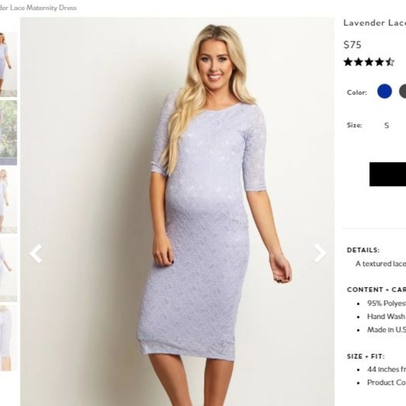 1248048b6862 Pinkblush Dresses | Maternity Lace Midi Fitted Lavender Dres | Poshmark